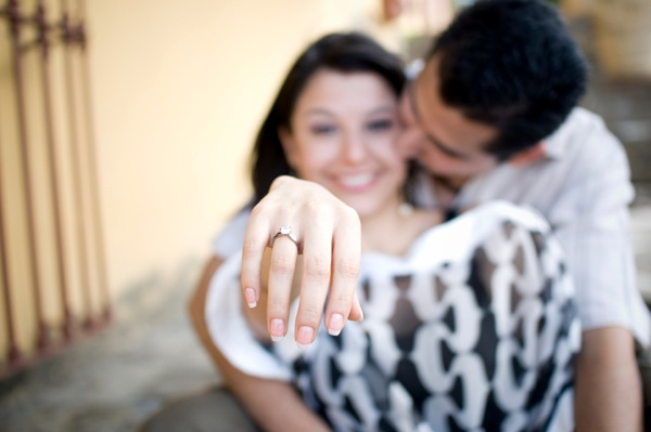 proposal ring love hand